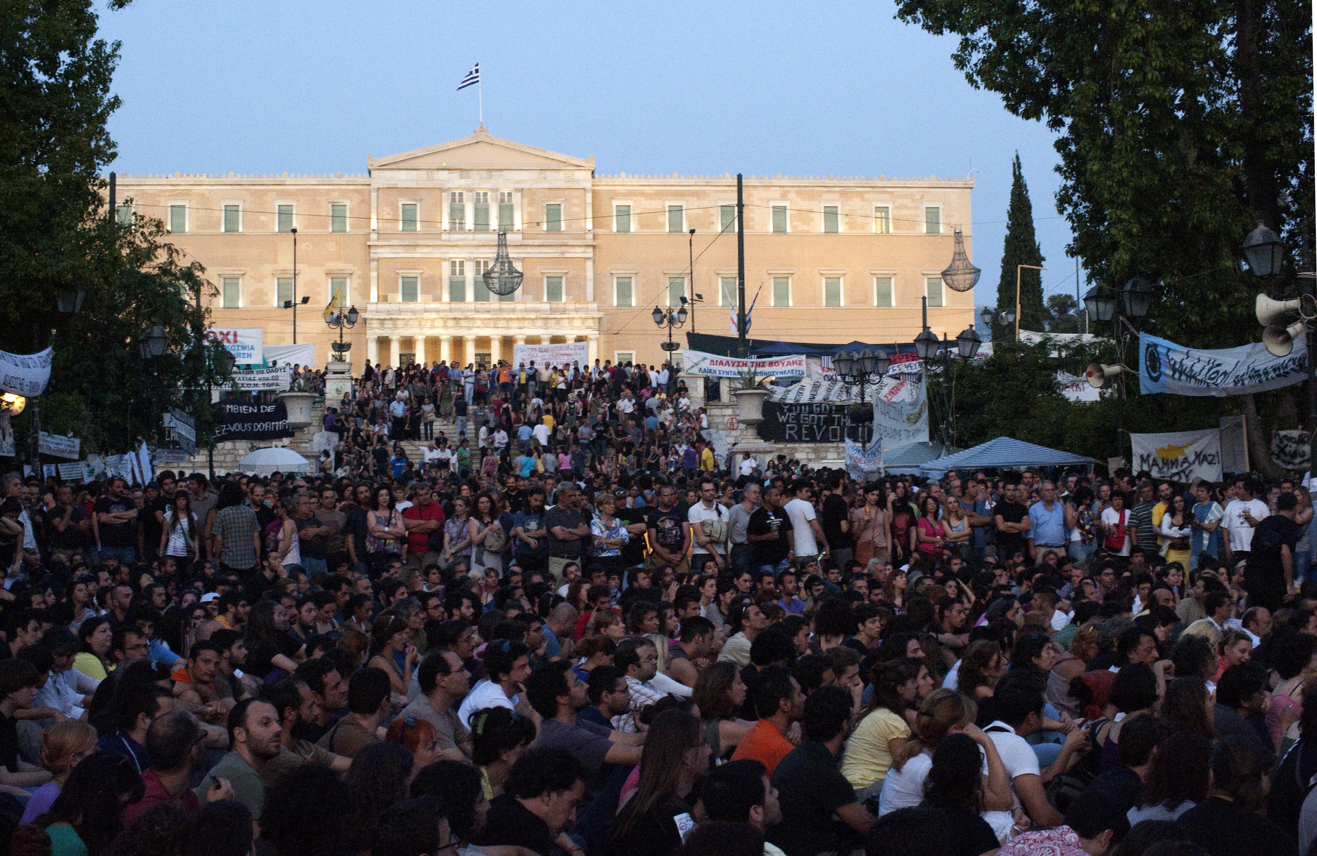 Mouvement anti-austérité à Athènes - crédit :en.wikipédia.org