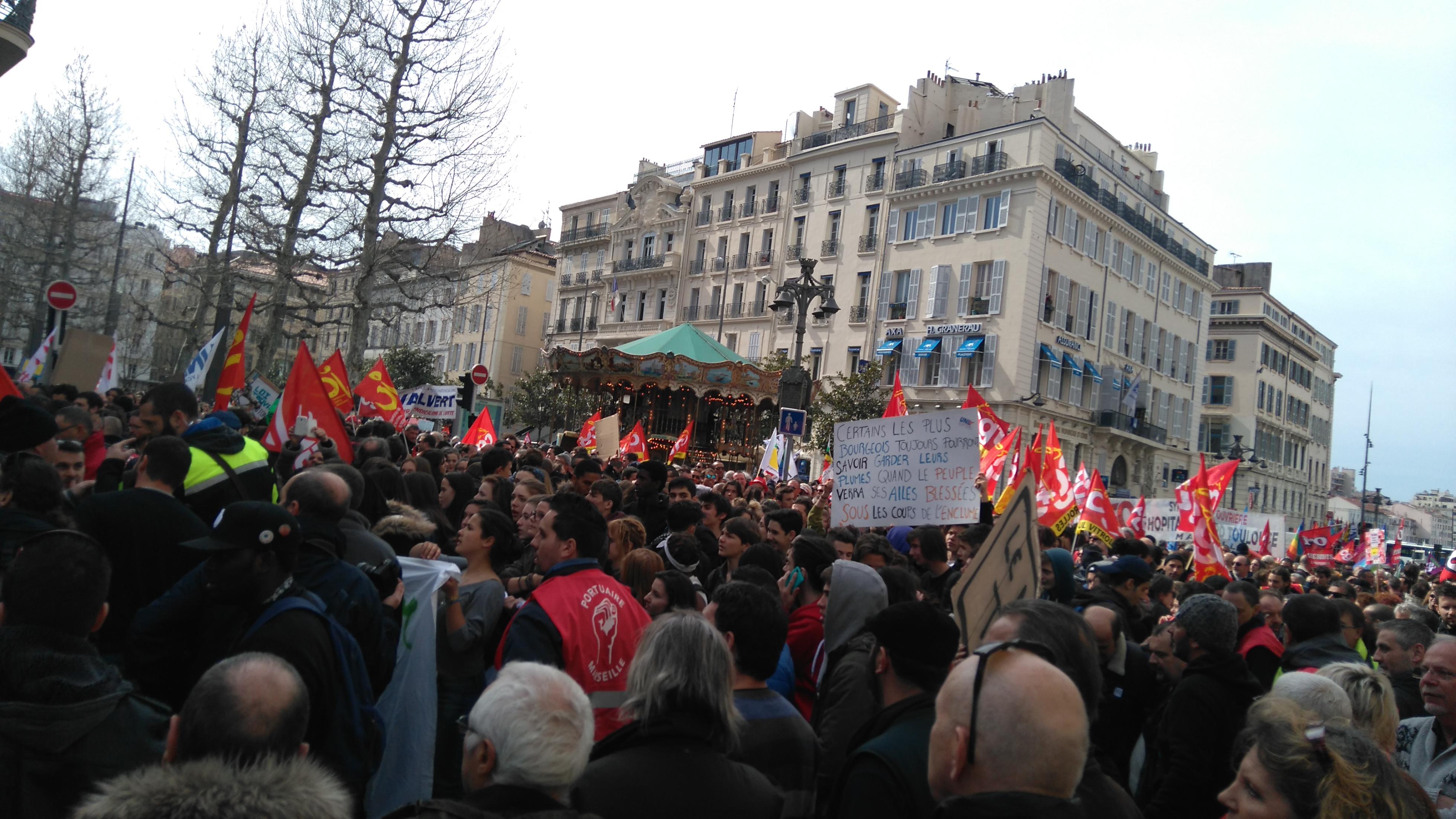 Manifestations contre la loi travail à Marseille cc Wkimedia commons