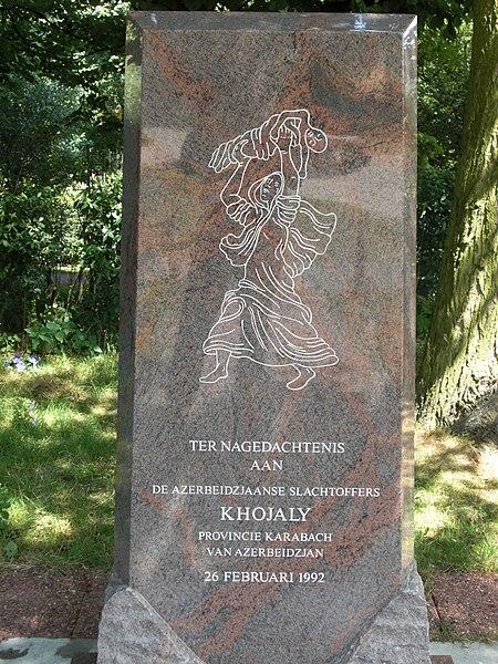 La Haye : monument à la mémoire du massacre de Khodjaly en Azerbaïdjan, 1992