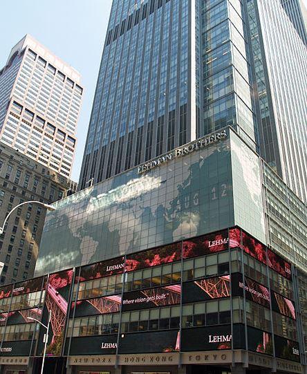 Siège de Lehman Brothers au Rockefeller center